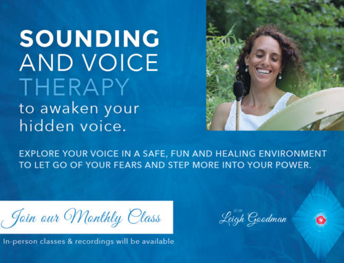 Sounding and Voice Therapy (Monthly Class)