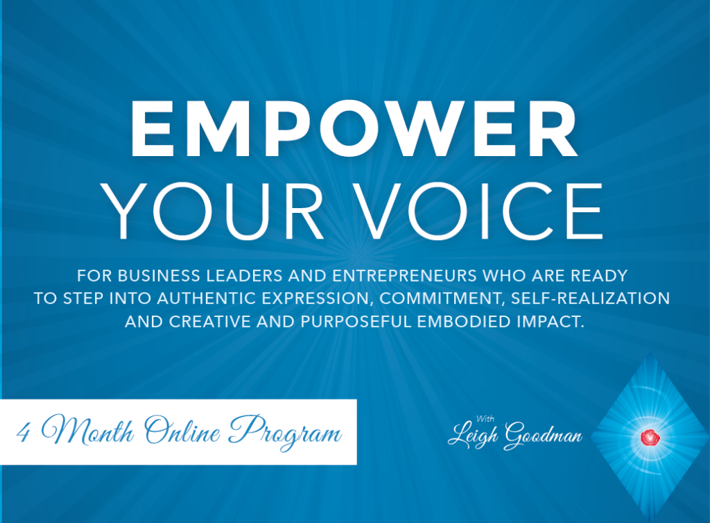 Empower your Voice with Leigh Goodman